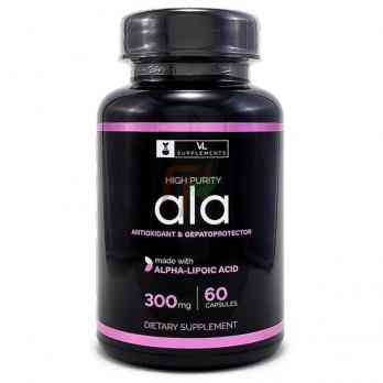 VL Supplements Alpha-Lipoic Acid (300 мг × 60 капсул)