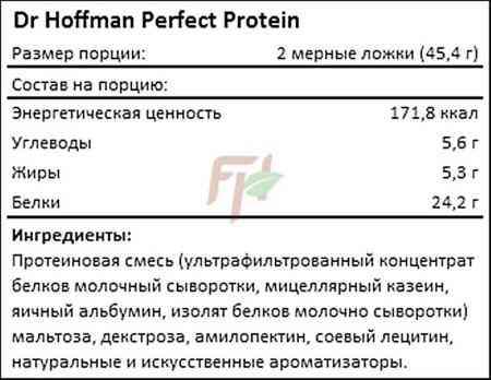 Dr Hoffman Perfect Protein 1000 гр состав