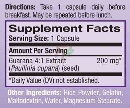 Guarana (200 mg × 90 caps)