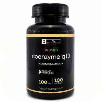 VL Supplements Coenzyme Q10 - Купить Коэнзим Q-10 (100 мг × 100 капсул)
