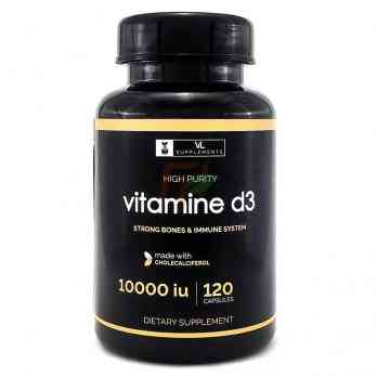 VL Supplements Vitamin D3 (10000 МЕ × 120 капсул)