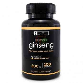 Ginseng Extract (500 mg × 100 caps)