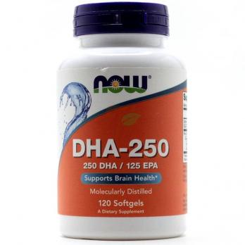 NOW DHA-250 500 mg 120 softgels
