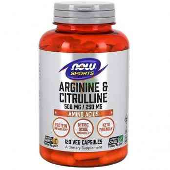NOW Sports Arginine & Citrulline 500 mg / 250 mg 120 veg capsules