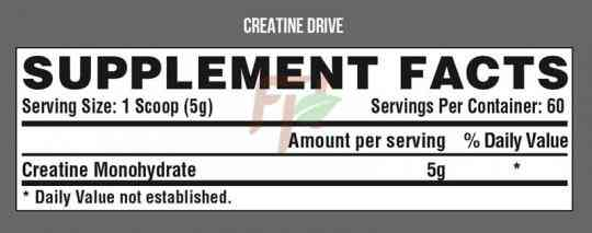 Nutrex Creatine Drive 300 гр состав