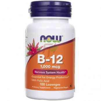 NOW Foods Vitamin B-12 1000 mcg 100 lozenges
