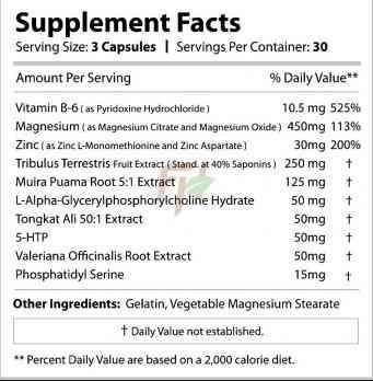 Revange Nutrition ZMA+ Rx состав