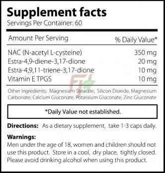 Core Labs X Tren+ Rx 60 caps supplement facts