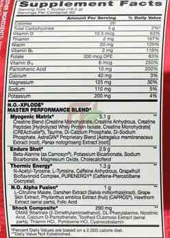 BSN NO-Xplode 1,11 кг 60 порций состав