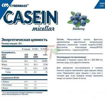 Cybermass Casein Micellar Состав