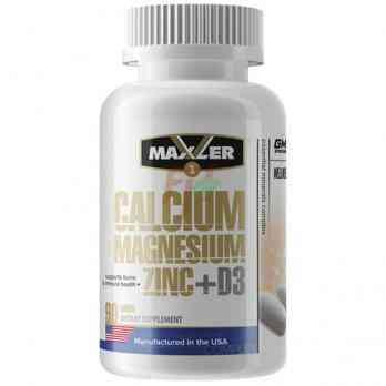 Maxler Calcium Magnesium Zinc + D3 90 tablets