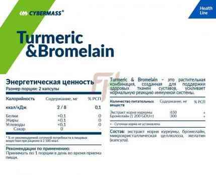 Cybermass Turmeric &Bromelain состав