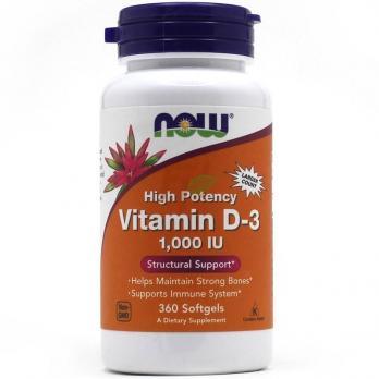 NOW Foods Vitamin D-3 1000 IU 360 softgels