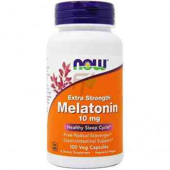 NOW Foods Melatonin - Extra Strength (10 мг × 100 капсул)