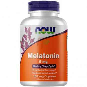 NOW Foods Melatonin (5 мг × 180 капсул)