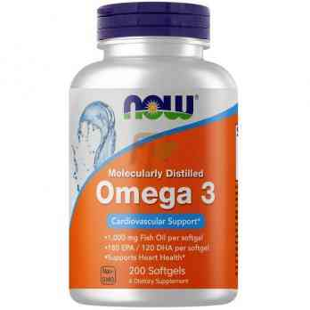 NOW Foods Omega-3 (1000 мг ×200 гелевых капсул)
