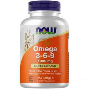 NOW Foods Omega 3-6-9 (1000 мг× 250 капсул)