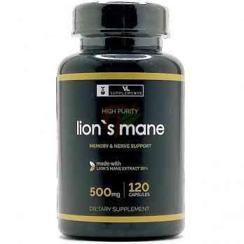 Lion's Mane Mushroom (500 мг× 120 капсул) VL Supplements