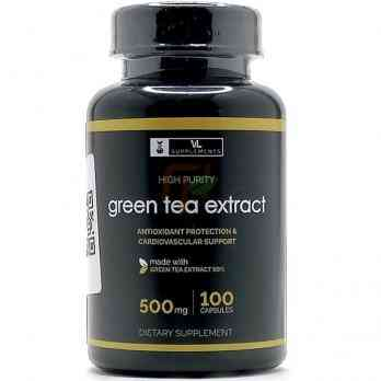 Green Tea Extract (500 мг× 100 капсул) VL Supplements