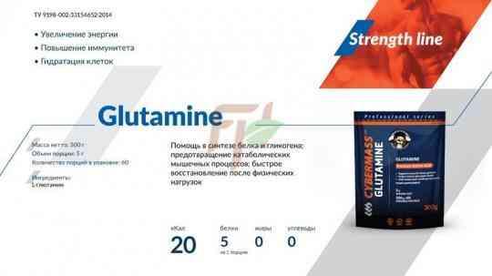 Cybermass Глутамин - состав и описание
