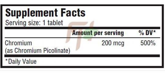 Scitec Chromium Picolinate (состав)
