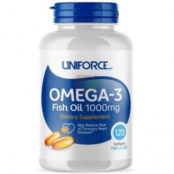 Uniforce Omega-3 Fish Oil 1000mg (120 капсул)