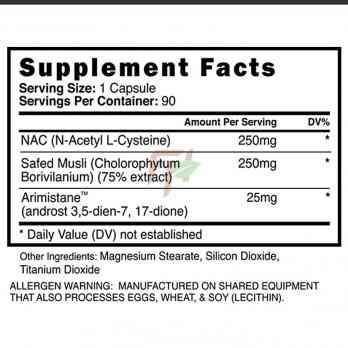 Blackstone Labs Eradicate supplement facts