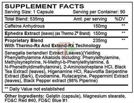 Innovative Laboratories Hellfire supplement facts
