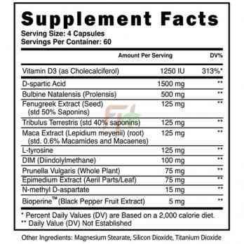 Тестобустер Blackstone Labs Apex Male supplement facts