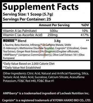 Insane Labz Monroe список ингредиентов