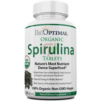 BioOptimal Organic Spirulina(500 мг × 240 таблеток)