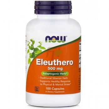 NOW Eleuthero (500 мг × 100 капсул)
