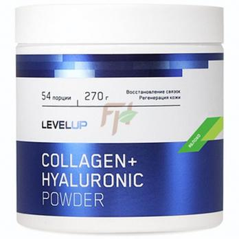 LevelUp Collagen+ Hyaluronic Acid Powder (270 гр / 54 порции)