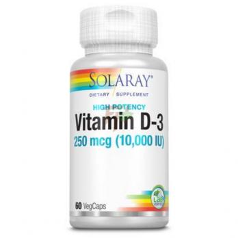 Solaray Vitamin D3 (10000 МЕ× 60 капсул)