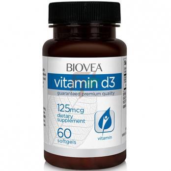 Biovea Vitamin D3 (5000 ме× 60 капсул)