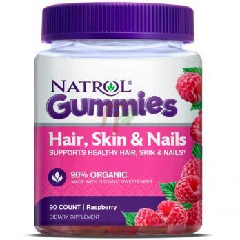 Natrol Hair, Skin & Nails (90 жевательных таблеток)