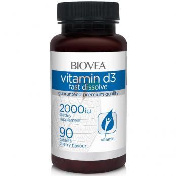Biovea Vitamin D3 Fast Dissolve (2000 ме × 90 таблеток)
