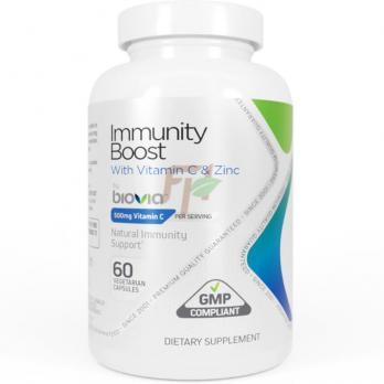 Biovia Immunity Boost with Vitamin C & Zinc (60 капсул)