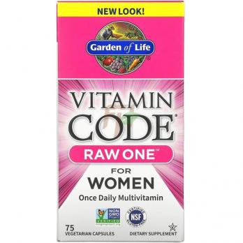 Garden Of Life Vitamin Code - Raw One [For Women] (75 капсул)