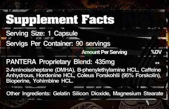 жиросжигатель Firebox nutrition Pantera состав
