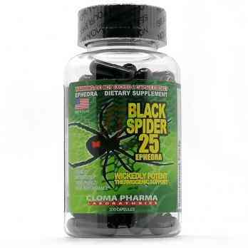 Cloma Pharma Black Spider 25 Ephedra (100 капсул)