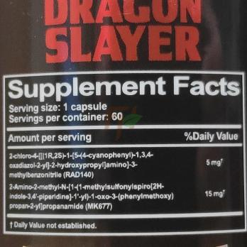 Anabolic Brew Dragon Slayer - supplement facts