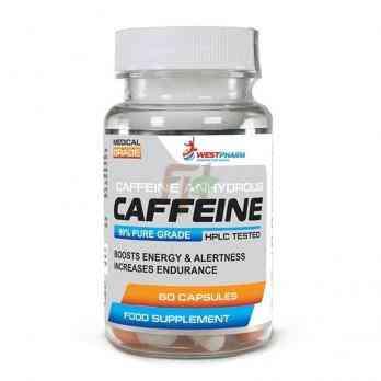 Westpharm - Caffeine - Кофеин 100 мг 60 капсул
