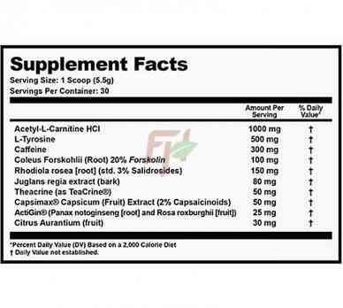 Outbreak Nutrition Reclaim - Состав жиросжигателя