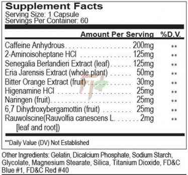 Prime Nutrition Redux 60 капсул состав