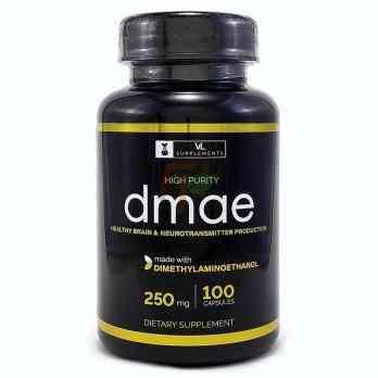 VL Supplements DMAE - Купить ДМАЭ (250 мг × 60 капсул)